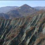 Il territorio dei calanchi tra Montechiaro d'Acqui e Merana