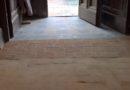 """Fasi di recupero della """"ritrovata"""" pavimentazione in cotto di San Pietro"""