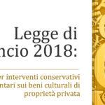 Contributi a fondo perduto per interventi conservativi sui beni culturali di proprietà privata: ultimi aggiornamenti