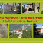 Nell'Alto Monferrato il borgo degli Artisti di Denice con vista sui Calanchi