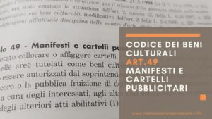 restauroeconservazione-codice-beni-culturali-art.49-MANIFESTI-CARTELLI-PUBBLICITARI