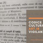 Codice dei Beni Culturali: art. 18 Vigilanza