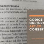Codice dei Beni Culturali: art. 29 Conservazione