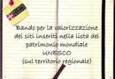 """In arrivo i contributi per il recupero dei """"beni culturali"""" inseriti nella lista UNESCO"""