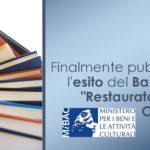 """Finalmente pubblicato l'esito del bando per """"Restauratore Beni Culturali"""""""