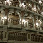 La suggestiva scenografia del teatro scientifico Bibiena a Mantova