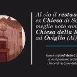 Al via il restauro della piccola Chiesa della Madonna di Oviglio (Al)