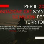 Per il 2020 Fondazione CRT stanzia 52 milioni per il territorio