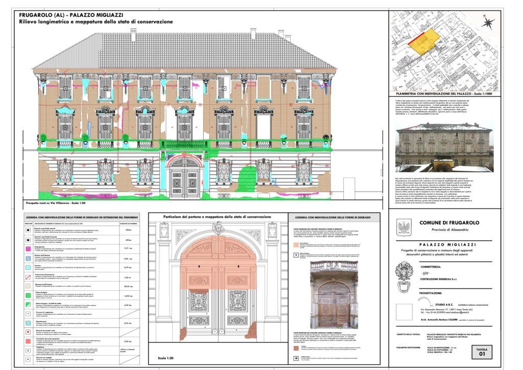 Palazzo Migliazzi mappatura degrado