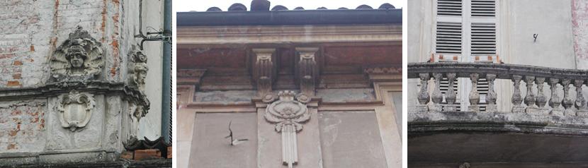 Palazzo Migliazzi già Polastri Frugarolo particolari