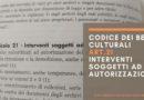Codice dei Beni Culturali: art. 21 interventi soggetti ad autorizzazione