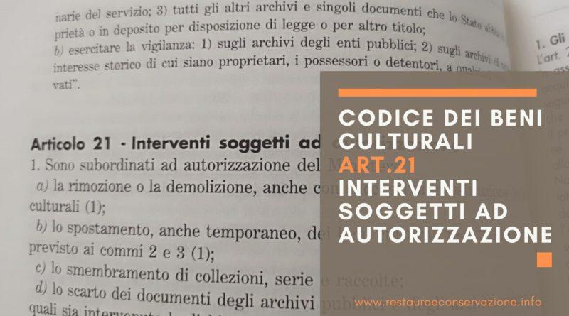 restauroeconservazione-codice-beni-culturali-art.21-AUTORIZZAZIONI