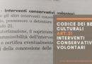 Codice dei Beni Culturali: art. 31 interventi conservativi volontari