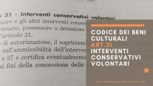 restauroeconservazione-codice-beni.culturali-interventi-conservativi-volontari-art.31